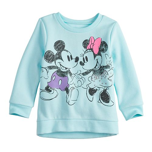 7399395cf Disney's Mickey & Minnie Mouse Baby Girl Glittery Graphic Softest ...
