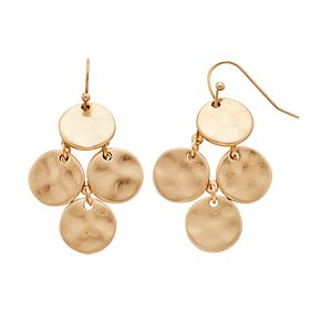 SONOMA Goods for Life? Gold Tone Disc Drop Earrings