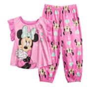 Disney's Minnie Mouse Toddler Girl Top & Jogger Bottoms Pajama Set