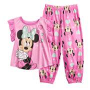 Disney's Minnie Mouse Toddler Girl Top & Jogger Bottoms Pajama Set