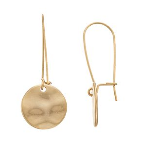 SONOMA Goods for Life? Gold Tone Disc Nickel Free Drop Earrings