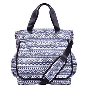 Trend Lab Baby Patterned Black and White Tote Diaper Bag