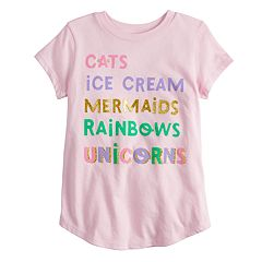 Girls 4-10 Jumping Beans® Glittery Graphic Tee