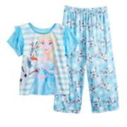 Disney's Frozen Elsa & Olaf Toddler Girl Top & Bottoms Pajama Set