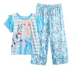 Disney's Frozen Elsa & Olaf Toddler Girl Top & Bottoms Pajama Set