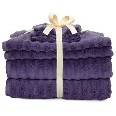 Dark Purple Bath Towels Home