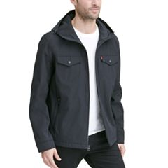 4086a002fc7 Men's Levi's Arctic Cloth Hooded Rain Jacket. Black Olive. sale