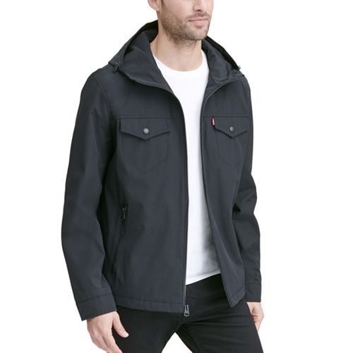 Men's Levi's Arctic Cloth Hooded Rain Jacket