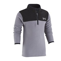 Boys 4-7 Under Armour Colorblocked Quarter Zip Fleece Pullover