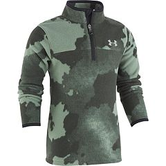 Boys 4-7 Under Armour Traverse Camouflaged Quarter Zip Fleece Pullover