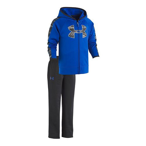 Boys 4-7 Under Armour Trave Hooded Zip Logo Track Jacket & Pants Set
