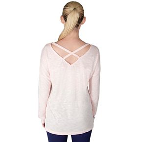 Women's Spalding Poise Cross Back Long Sleeve Tee