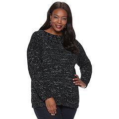Plus Size Croft & Barrow® Chenille Boatneck Sweater