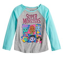 Girls 4-10 Jumping Beans® 'Super Monsters' Glittery Graphic Tee