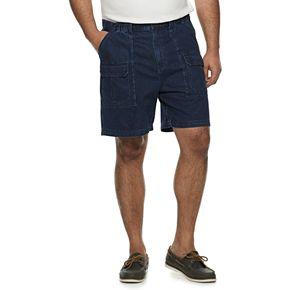 Big & Tall Croft & Barrow® Side-Elastic Denim Cargo Shorts