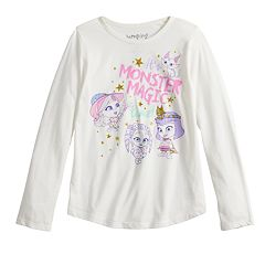 Girls 4-10 Jumping Beans® 'It's Monster Magic Time' Glittery Graphic Tee