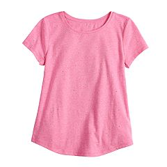 Girls 7-16 SO® Short Sleeve Patterned Tee