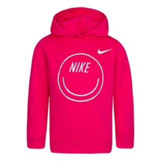 Girls 4-6x Nike Iridescent Heart Graphic Logo Hoodie