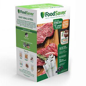"""FoodSaver 11"""" x 14"""" Easy Seal & Peel Vacuum Seal Rolls - 5-pack"""