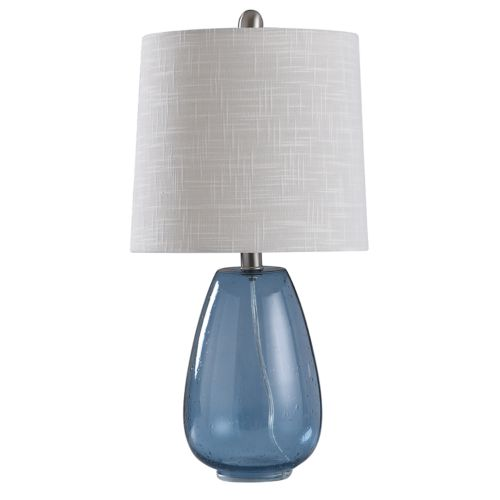 Style Craft Aqua Glass Table Lamp