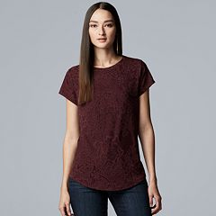 Women's Simply Vera Vera Wang Essential Lace Tee
