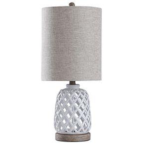 Style Craft Coastal White Table Lamp