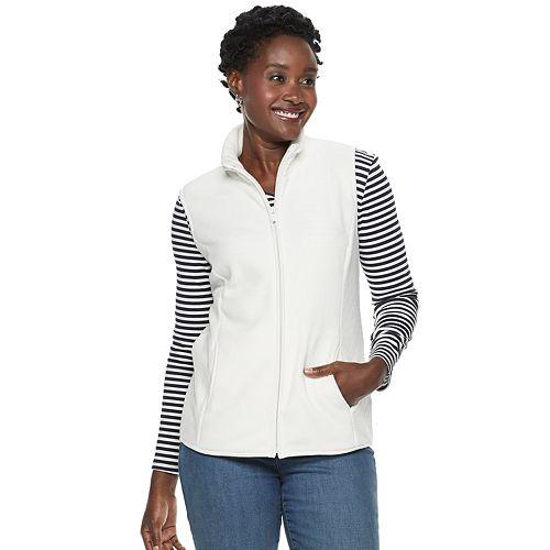 Petite Croft & Barrow® Mockneck Fleece Vest