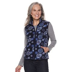 Petite Croft & Barrow® Mockneck Fleece Vest