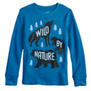 "Boys 4-12 Jumping Beans® ""Wild By Nature"" Thermal Top"