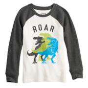 "Boys 4-12 Jumping Beans® Dinosaurs ""Roar"" Raglan Graphic Tee"