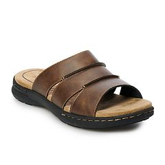 cfb7fafbb06e Croft   Barrow® Rich Men s Slide Sandals. Brown Black