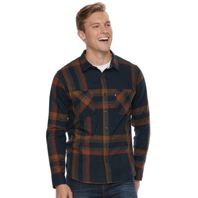 Big & Tall Levi's Abbotts Flannel Button-Down Shirt
