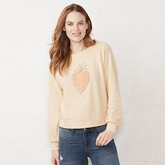 Women's LC Lauren Conrad Strawberry Graphic Sweatshirt