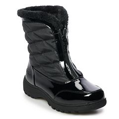 totes Kelly Women's Faux-Fur Waterproof Winter Boots
