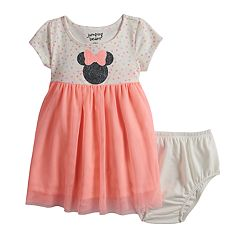 eb47b958407 Disney's Minnie Mouse Baby Girl Glittery Graphic Tulle Dress by Jumping  Beans®
