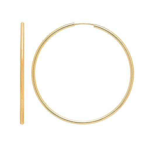 Everlasting Gold 14k Gold Endless Hoop Earrings