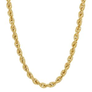 Everlasting Gold 10k Gold Rope Chain Necklace