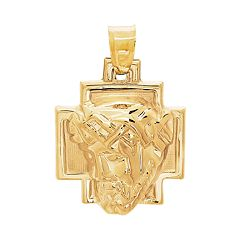 Everlasting Gold 10k Gold Christ Head Charm