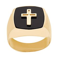 Everlasting Gold 10k Gold Cross Ring