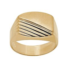 Everlasting Gold Half-Ribbed 10k Gold Ring