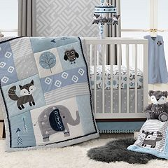Lambs & Ivy 4 Piece Stay Wild Crib Bedding Set