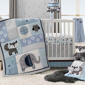 Lambs & Ivy 4 Piece Stay Wild Crib Bedding Set