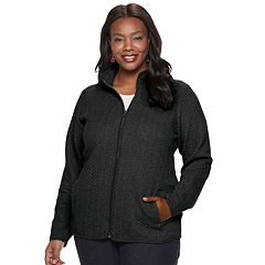 Plus Size Croft & Barrow® Quilted Knit Jacket