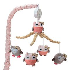 Lambs & Ivy Stay Family Tree Owls Musical Mobile