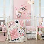 Lambs & Ivy 3 Piece Hello Kitty Crib Bedding Set