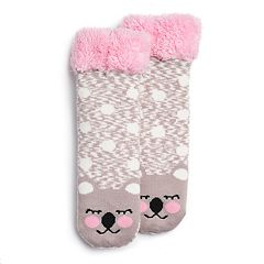 Girls 4-16 Critter Cozy Slipper Socks