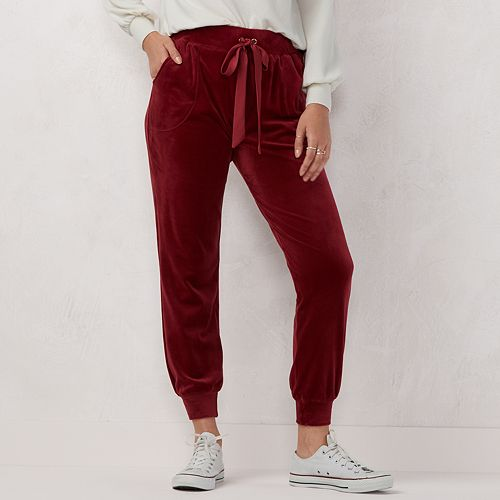 Women's LC Lauren Conrad Weekend Velvet Jogger Pants