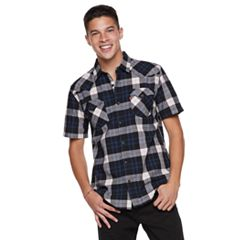 Men's Levi's Plaid Poplin Button-Down Shirt