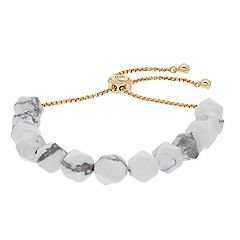 love this life Howlite Stone Bolo Bracelet