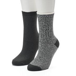 Women's SONOMA Goods for Life? 2-Pack Ribbed Crew Socks